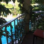 Private veranda overlooking the pool
