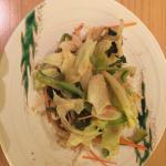 Salad with sesame dressing - yum!