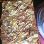 Chicken, mushroom & Pineapple pizza - all pizza R50 after 4pm on Sunday