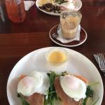 Eggs Royale & Benedict, very nice