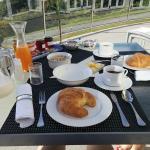 Breakfast prepared by hosts