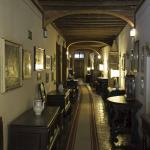 corridor leading to the different rooms