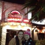 In front of cheddars