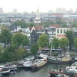 View of Amsterdam from top floor of library