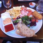 The fish platter. After I tipped all the individual things out on to my plate, so it did look mu