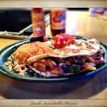 Lunch Hawaiian quesadilla: grilled chicken w/ pineapple