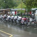 The motel rooms and bikes