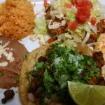 Combo with taco, enchilada, y sope