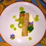 Sashimi D'espadon, avocat,citron caviar,wasabi et pomme mariné