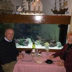 Savoring a delicious dinner on New Year's Eve at Oceans