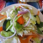 My husband's large garden salad