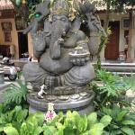 Ganesha presiding over courtyard garden