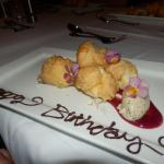 Desert dished up with flair