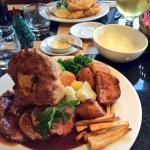Sunday lunch and fish and chips