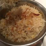 A very well done pilau rice