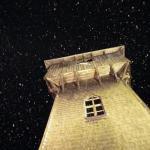 Turm von Gasthof Siriuskogl Terrasse Winter