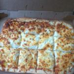 White garlic sheet pizza