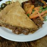 Steak pie from the carvery