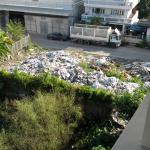 View from my room--note the trash dump to the right