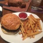 Outback Hamburger and Fries