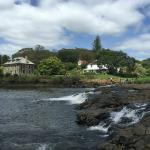 KeriKeri river with Stone Store and Kemp House on background
