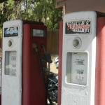 Old Gas Pumps out front
