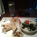 Chicken Soulavi with Greek Salad