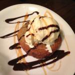 Chocolate chip cookie with vanilla ice cream....delicious!