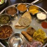 Delicious Thali served at the dining hall