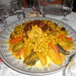 Une partie du repas, un couscous