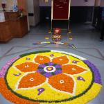 decorated reception for Onam