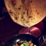 Lamb paneer with nan