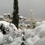 Zimmerausblick im Winter