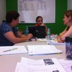 During one of many productive classes with Profesora Leidys.