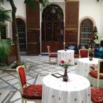 La sala ristorante del riad
