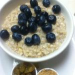 Fresh Blueberry Oatmeal