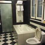 Large, bright bathroom