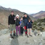 Kids and husband with our guide Mohammed