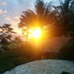 Sunset as seen from our plunge pool