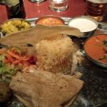 Grand Thali with chicken