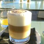 Order any kind of coffee u like at breakfast.