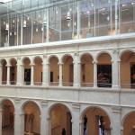 view of where the old courtyard blends with the addition at the Harvard Art Museums