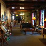 Reception area on the lower level of the Lodge
