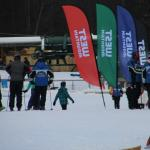 Skiers at the Base