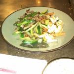 My hibachi vegetables, beef julienne, and hibachi shrimp