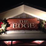 The Edge's sign, out front.