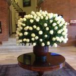 Rosas en la recepción