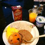 Orange juice, chocolate milk, chobani yogurt, eggs, etc.