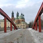 Ostrów Tumski w Poznaniu , most Jordana i widok na katedrę