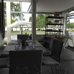 View from outdoor eating area